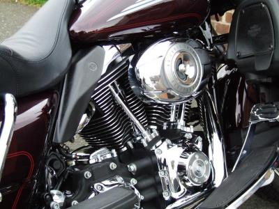 Harleys metalwork polished